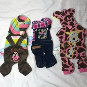 NWT Lot of three Dog Outfits.